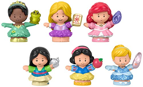 Fisher-Price Disney Princess Gift Set by Little People, 6 Character Figures for Toddlers and Preschool Kids Ages 1 to 5 Years [Amazon Exclusive]