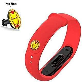 Iloft® Silicone Wristband Strap for Mi Band 4 / Mi Band 3 (Tracker Not Included) (Red)