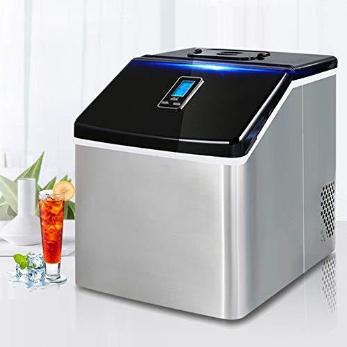 XinC Gegenober EIS-Hersteller-Maschine, tragbare elektrische Hausbar Tisch Bar Ice Cube Herstellung, Herstellung 25Kg EIS in 24 Stunden, Bereit 24 Eiswürfel in 12 Minuten,Automatic