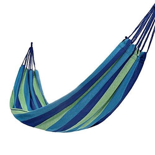WYH Hammock Cama DE Swing Camping HAMCKING HAMPO Camino Cama DE Viaje Cama MÁS Grande FRINCE HAMCUSAS para JARDÍN Backyard Playa AL ATUCTOR Columpio (Color : Blue)