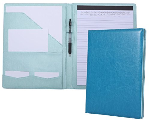 Portfolio Padfolio Resume Folder with Pocket, Premium Faux Leather...