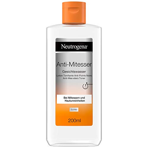 Neutrogena Anti-Mitesser Gesichtswasser, Porenreiniger, Bei Mitessern und Hautunreinheiten, 2 x 200 ml