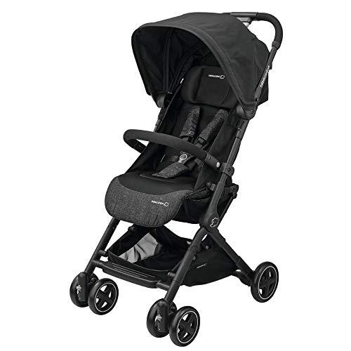 Bébé Confort Lara Passeggino Compatto e Leggero, Reclinabile e Richiudibile in 3 Secondi, Nomad Black