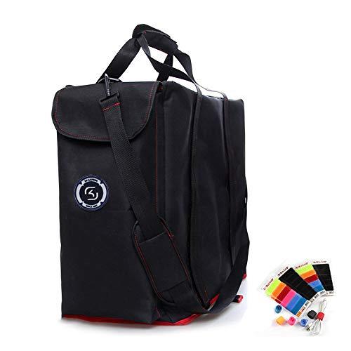 Hosoncovy Desktop-Computer Gaming Computerturm Reisetasche Schultertasche Desktop-PC-Aufbewahrungstasche mit Seitentaschen zur Aufbewahrung von Tastatur und Kopfhörer (einschließlich Kabelbinder)