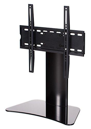 RICOO FS212-B, TV-Ständer, 30-55 Zoll (ca. 76-140cm), bis VESA 400x400, Fernseh-Halterung, Kabelmanagement, Fernsehständer, Schwarz-Glas Hochglanz
