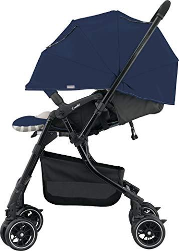 Combi Mechacal Dual Direction Stroller with Easy Fold Design | 170 Degree Full Seat Recline | Shock Absorbant Seat with Extended Canopy | Auto-Convert Wheels | Navy