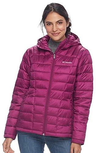 Columbia Pacific Post Thermal Coil Quilted Puffer Jacket Womens Small Dark Raspberry