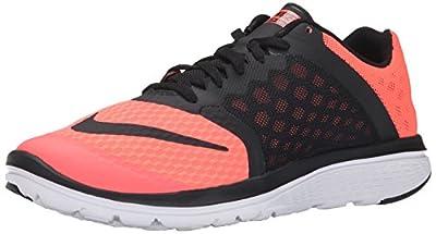 NIKE Women's Fs Lite Run 3 Lava Glow/Black/White Running Shoe 6.5 Women US