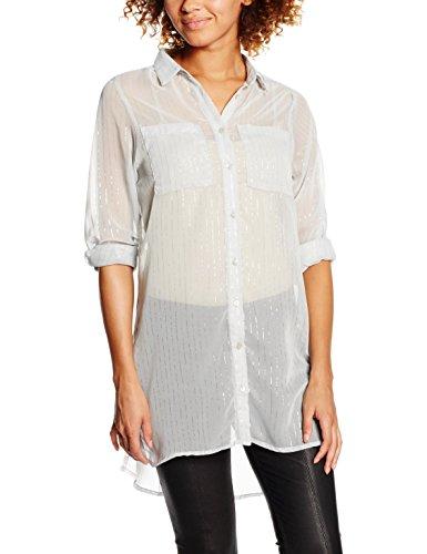 Vila dames Vinilla Metallic L/S Longshirt blouse