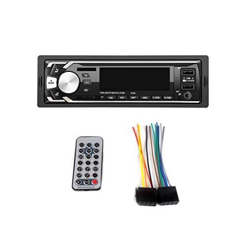 HIBLOOM | Autoradio Bluetooth Chiamate in Vivavoce Stereo Auto 1 Din con Telecomando Radio FM 4x52W lettore MP3, USB, AUX | Compatibile con Dispositivi Android e iOS