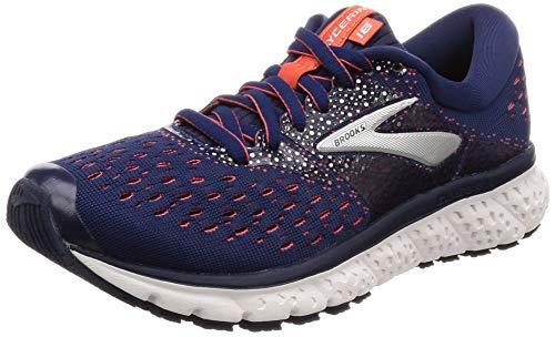 Brooks Glycerin 16, Zapatillas de Running Mujer, Azul (Navy/Coral/White 494), 36 EU