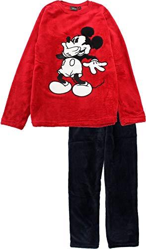 Disney Mickey Mouse Giggles Ensemble de pyjama en polaire à manches longues pour homme - Rouge - S