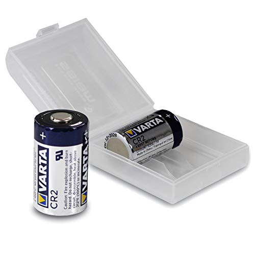 2X VARTA CR2 / CR17355 3V Lithium Batterie (6206) in praktischer Batteriebox von Weiss - More Power +