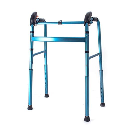 ZCPDP Andador para Ancianos sin Ruedas | Aluminio Ultraligero | Regulable en Altura| Plegable | Asistencia de Movilidad | Peso máximo soportado 200 kg,Adecuado para los Ancianos