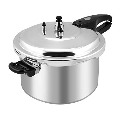 Barton 8-Quart Aluminum Pressure Cooker Stovetop Fast Cooker Pot Pressure Regulator Fast Cooking Steam Release Valve
