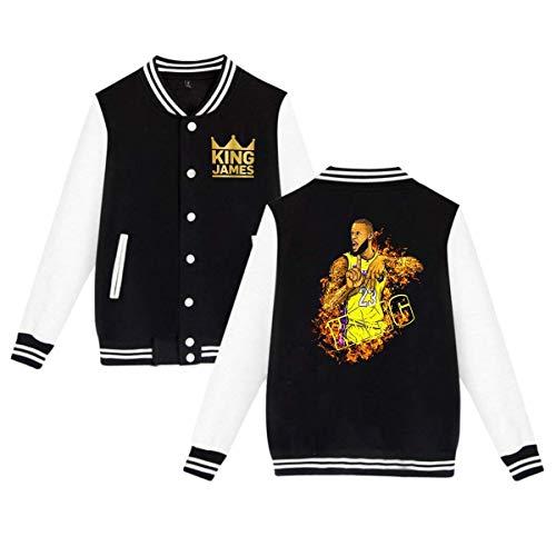 DLAZANA King Crown James Unisex Baseball Jacket Sport Coat for Men,Women (4XL)