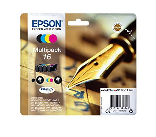 Epson C13T16264012- Cartucho de tinta 16 Series Multipack, Ya disponible en Amazon Dash Replenishment