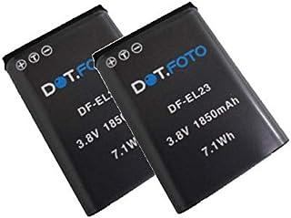 2x Dot.Foto EN EL23 Batterie für Nikon   3,8 Volt / 1850mAh