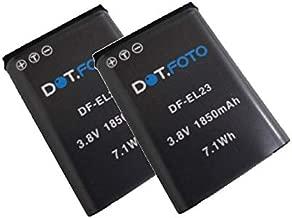 Dot Foto EN-EL23 Replacement Rechargeable Camera Battery 3 8v 1850mAh Nikon Coolpix B700  P600  P610  P900  S810c