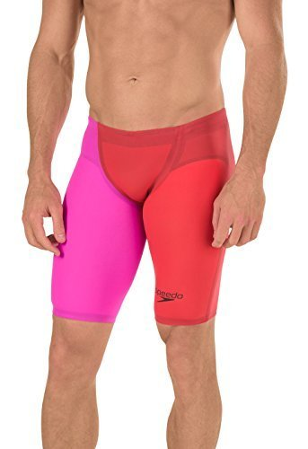 Speedo Men's LZR Racer Elite 2 Jammer - 26 -Lava Red