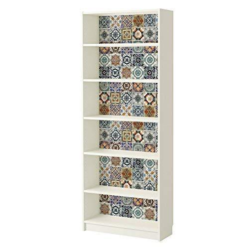 Wallplus - Adhesivo decorativo para pared (vinilo, 63,5 x 63,5 x 5 cm), diseño de azulejos mediterráneos