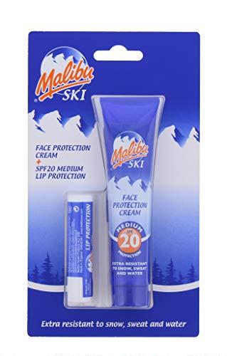 Unbekannt Ski Duo Pack Sun Protection Face Creme 40ml & Lip Balm Gesichtspflege mit LSF 20New, kardiert