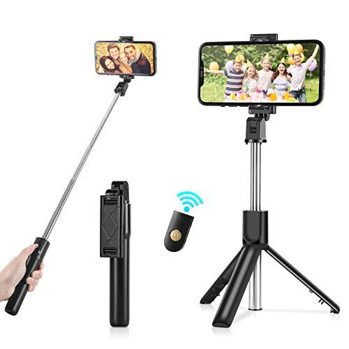 Bluetooth Selfie Stick Stativ, AlBetter 3-in-1 Mini Selfie Stick mit Abnehmbarer Bluetooth Fernbedienung, geeignet für iPhone, Huawei, Samsung und Android-Smartphones