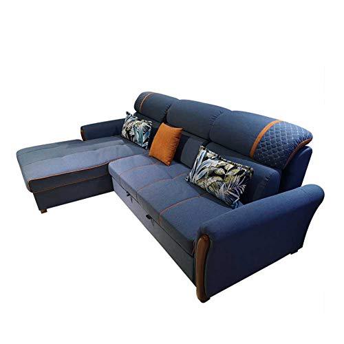 RJMOLU Cama Grande de sofá esquinero con chaises de Almacenamiento Reversible Sofá Cama de Lujo de Tela para el sofá retráctil para salón balcón salón Domicilio