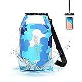 Luxtude Waterproof Dry Bag Backpack, 5L Roll Top Portable Dry Sack Waterproof Bag with Phone Case, Floating Waterproof Dry Bag for Kayaking, Swimming, Boating, Surfing, Hiking, Beach etc.