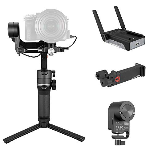 Zhiyun Weebill S 3-Achsen-Gimbal für spiegellose & DSLR-Kameras wie Sony A7M3, 300prozent besserer Motor als Zhiyun Weebill Lab, Bildübertragungs-Pro-Paket/W-Servo-Follow-Focus & Bildtransmitter