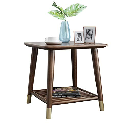N/Z Daily Equipment End Tables 2 Tier Wood Side Tables Sofa Small Coffee Table Bedside Snack Table Living Room Bedroom Furniture (Color : B)