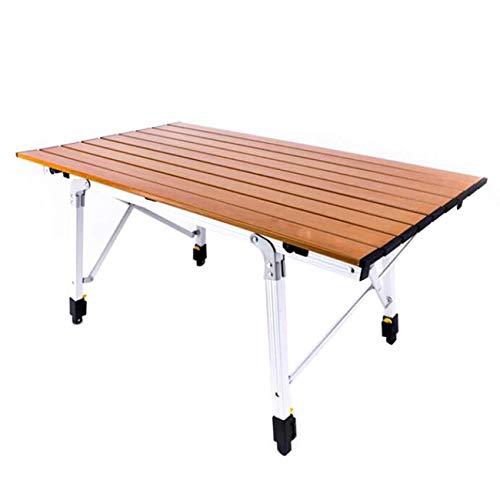 Esstisch Partytisch -GR Outdoor Camping Tisch Aluminium Klapptisch Tragbare Roller Tisch Outdoor Grill Tisch Geeignet für selbstfahrende Grill Garten Angeln 90 * 53 * 45 cm, Multi-Color optional Garte