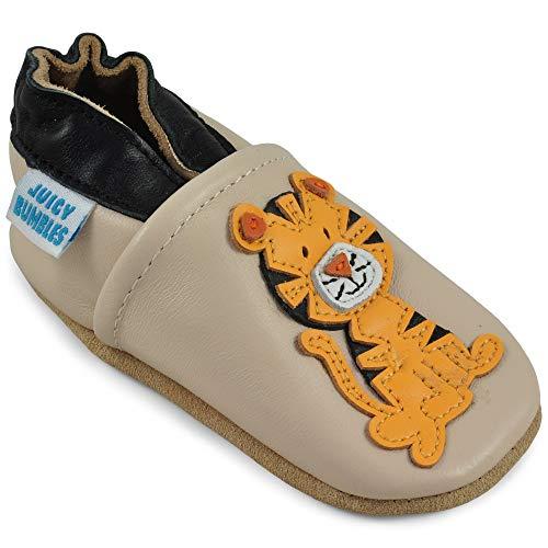 Juicy Bumbles Lauflernschuhe - Krabbelschuhe - Babyhausschuhe - Sitzender Tiger 12-18 Monate (Größe 22/23)