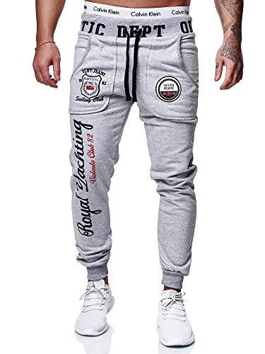 OneRedox Herren Jogginghose Sporthose Männer Trainingshose Sweatpants 601 Grau XXL