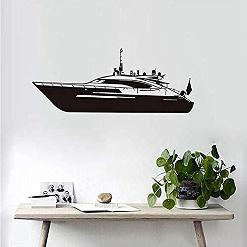 Pegatina Etiqueta engomada grande de la pared del barco de motor 3D...