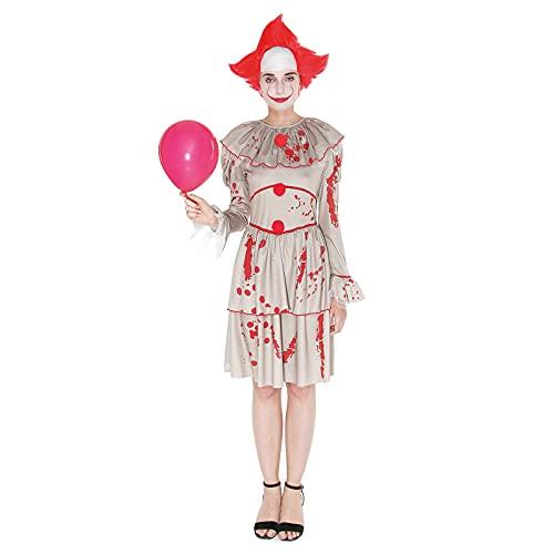 Disfraz Payasa Asesina Mujer Retro [Talla S]【Tallas Adulto S a L】【Diseño Original】 Disfraces Halloween para Mujer