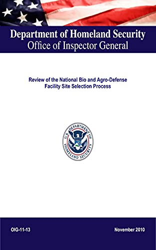 Review of the National Bio and Agro-Defense Facility Site Selection Process (English Edition)
