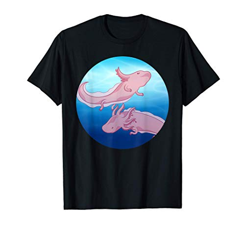 Axolotl Animal Exótico Salamandra Mexicana Mascota Ajolote Camiseta