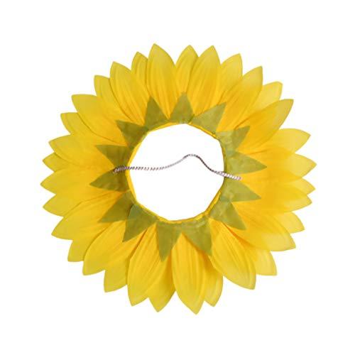NUOBESTY Sombrero de Girasol Sombrero Divertido de La Flor Del Sol Gorra Flor Única Cubierta de La Cara Juegos Divertidos Disfraces Cubierta de La Cabeza para Niños Adultos 70 Cm
