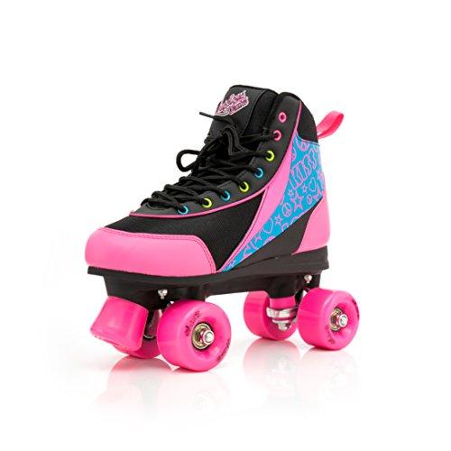 Luscious Skates Retro Disco Rollschuhe Kinder Disco Diva EU 41 (schwarz pink blau)
