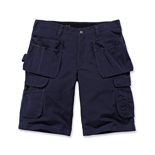 Carhartt pantalones cortos cargo de acero para hombre, ajuste relajado