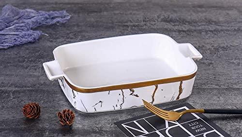 Zellerfeld Trendmax Servierschale Porselen Sunumluk ca 30x20cm Servierteller Schale Servierplatte mit Marmor Design aus Porzellan