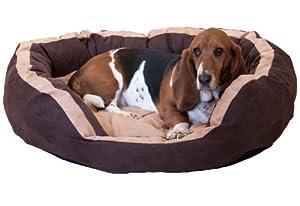Lit pour chien–Rex en 3tailles Marron en alcantara plastique. Livraison gratuite.
