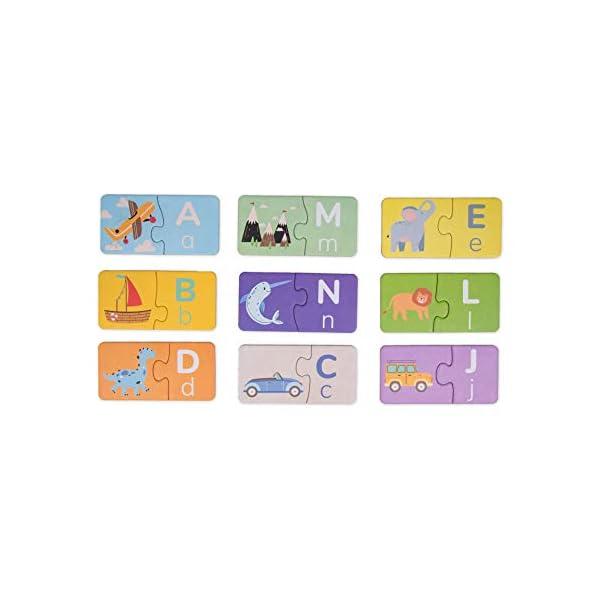 ambarscience- Match it - Alfabeto - Juego Rompecabezas Educativo de 52 Piezas para Aprender el abecedario, con imágenes…