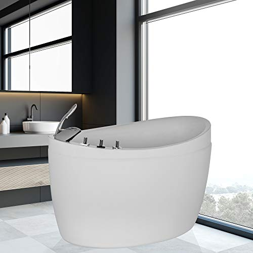 Empava EMPV-WIT373 52.5' Acrylic Freestanding Walk-in Bathtub