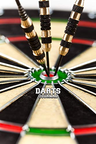 DARTS JOURNAL DOT GRID STYLE NOTEBOOK: 6x9 inch daily bullet notes on dot grid design creamy colored pages with beautiful dartboard and darts steel tips cover perfect gift idea for dart player