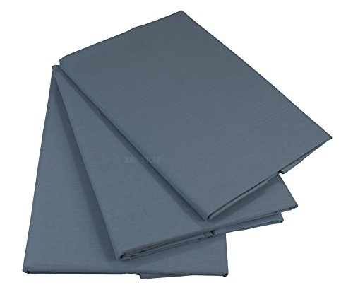 KMP know how in modern printing Bettlaken Betttuch Haustuch 100% Baumwolle ohne Gummizug viele Uni Farben (200 x 220 cm, Grau)