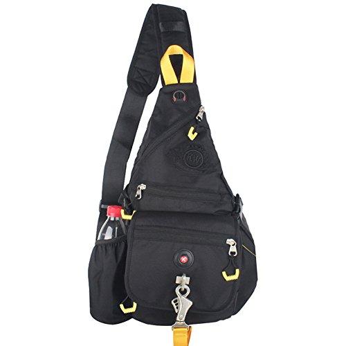 Innturt Canvas Sling Bag Backpack Crossbody Chest Shoulder Bag Black