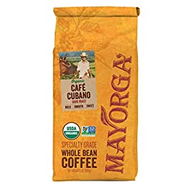 Mayorga Organics Café Cubano, Dark Roast Whole Bean Coffee, 2lbs Bag, Specialty-Grade, 100% USDA Organic, Non-GMO Verified, Direct Trade, Kosher 9 <p>Dark roast profile with hints of vanilla and a sweet, syrupy smokiness, with a smooth, bold finish Distinctive flavor from our signature Latin, slow-roasting process using state-of-the-art machinery 100% USDA Organic, Non GMO Verified, Shade-Grown, Arabica, Direct-Trade Consciously sourced from quality-inspected, certified organic small farmers in Latin America Try Mayorga Risk-Free: Buy Now, and if you don't love our coffee, Amazon will happily refund your order</p>
