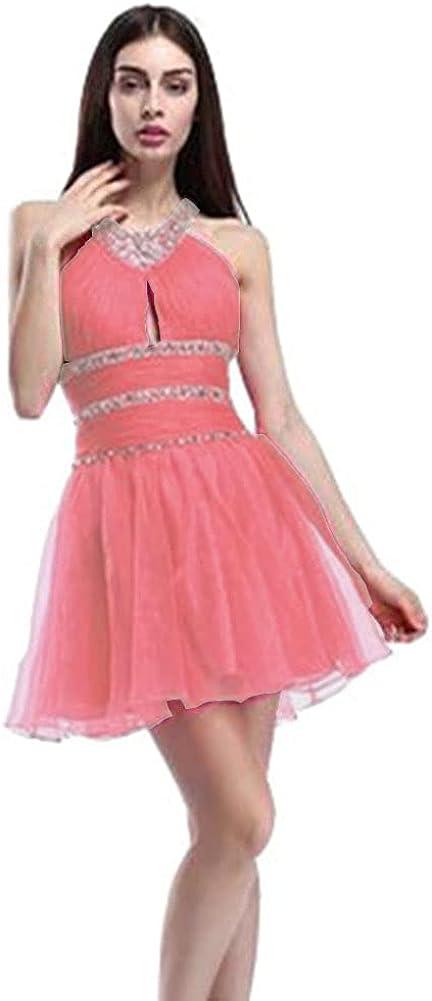 Yuki Isabelle Industry No. 1 Nippon regular agency Women's Halter Neck Lovely Dresses Homecoming Shor